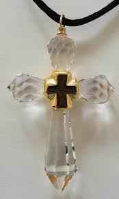 cross handcrafted with swarovski cross