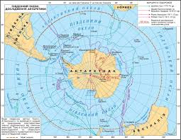 Antarctica World Map by Antarctica Climate Subglacial Relief The Geography Of