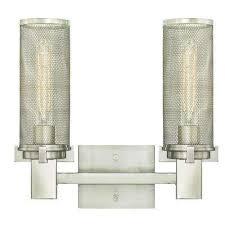 Brushed Nickel Vanity Lighting Bathroom Lighting The Home Depot - Wall mounted bathroom light fixtures 2