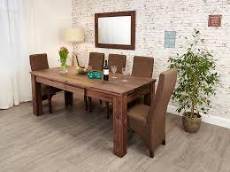 baumhaus mayan walnut extending dining table amazon co uk