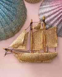glittered sailboat ornament martha stewart