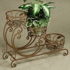 wonderful home garden design with 3 tier flower planters with iron