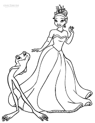 princess frog coloring pages coloring