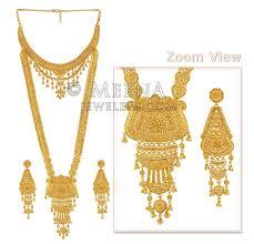 gold rani haar sets gold wedding set stbr4419 22kt gold rani har set is a set of 2