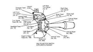 1993 ford ranger steering column switch connnector headli
