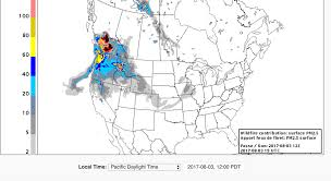 Portland Oregon County Map by Oregon Smoke Information