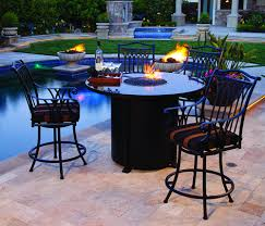 Patio Dining Sets With Fire Pits by Outdoor Dining Table With Propane Fire Pit Chic Outdoor Kitchen