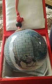 image result for reverse painted christmas ornaments religious
