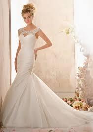 morilee bridal elaborately beaded yoke on organza wedding dress