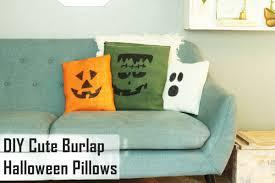 diy cute burlap halloween pillows spookily simple
