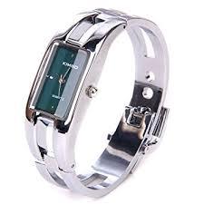 ladies bangle bracelet watches images Silver quartz women bangle bracelet wrist watch a stunning open jpg