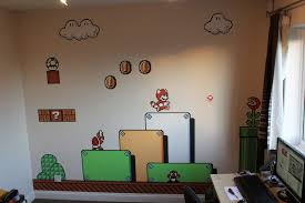 Super Mario Decorations Wall Art Decor Ideas Cloud White Mario Wall Art Decorations Sky