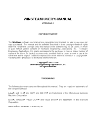 winsteam manual pdf steam