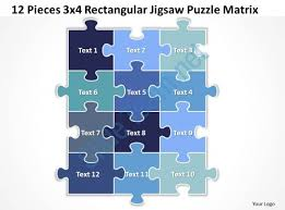 Jigsaw Puzzle Powerpoint Template 12 Pieces 3x4 Rectangular Jigsaw Puzzle Powerpoint Template Free