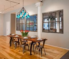 mirrored dining table dining room industrial with baseboard blue
