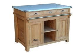 meuble haut cuisine bois meuble cuisine massif cuisine sur mesure en pin massif zinc