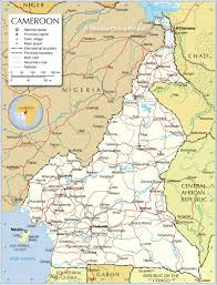 Physical Features Map Of Africa by Political Map Of Cameroon Nations Online Project