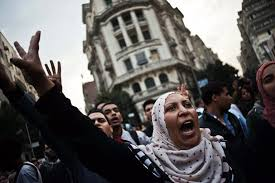 while pro morsi muslim brotherhood supporters threatened