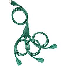 time 3 outlet outdoor multi directional cord 25