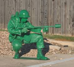 Army Soldier Halloween Costume Plastic Green Toy Soldier Flamethrower Costume 9 Steps