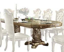 trendy cherry finish traditional dining room w hand carved details