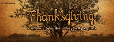 happy thanksgiving spend time with family friends cover