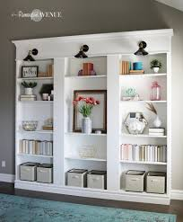 Built In Wall Shelves by Ikea Billy Bookcase Library Hack Remington Avenue