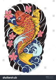 carp fish tattoo hand drawn koi fish tattoo stock vector 422570107 shutterstock