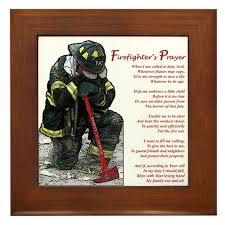 amazon com cafepress firefighter prayer framed tile amazon com cafepress firefighter prayer framed tile decorative tile wall hanging home kitchen