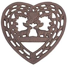 6th wedding anniversary gift ideas cast iron heart shaped trivet y971 a fantastic 6th wedding