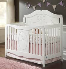 Crib White Convertible by Stork Craft Princess 4 In 1 Fixed Side Convertible Crib White