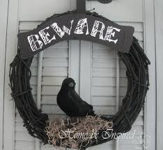 williams sonoma knock off halloween crow wreath home be inspired