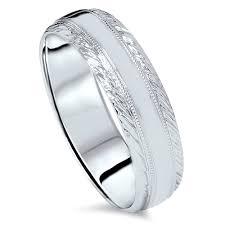 mens wedding bands white gold braided handmade mens wedding band 14 karat white gold kt high