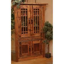 stony brooke 4 door corner cupboard with glass doors green gables