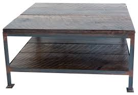 industrial square coffee table square rustic coffee table facil furniture