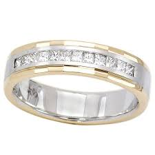 mens two tone gold wedding bands 0 50ct s ring in 14k two tone gold s rings