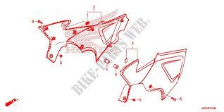 siege honda couvercle lateral moulure de siege frame cb500xaf 2015 cb 500 moto