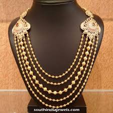 antique necklace chains images Gold antique step chain necklace south india jewels jpg