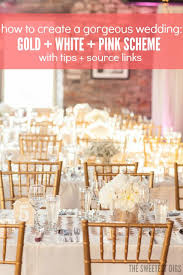 pink white gold wedding get the look gold and pink wedding decor chevron table white