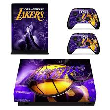 game design los angeles los angeles lakers xbox one x by video games design decal on zibbet