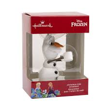 hallmark disney frozen olaf with chocolate christmas tree