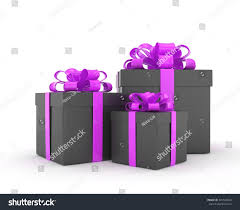 boxes with bows three gift boxes bows isolated on stock illustration 345540620