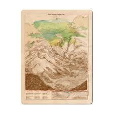 Rocky Mountain Map Rocky Mountain National Park Wood Print