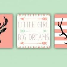baby nursery decor u2013 coral and mint u2013 antlers u2013 deer head