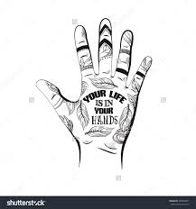 quote typographical background your life is in your hands vector