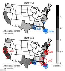 florida towns map climate central map reveals cities that will be obliterated by