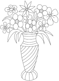 collection of solutions flower vase coloring page about worksheet