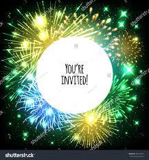 new years or birthday party invitation stock image universal invitation card template design fireworks stock vector