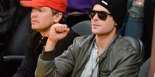 zac efron wears six month sobriety chip to lakers game huffpost