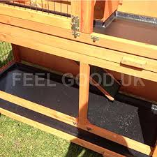 4ft Rabbit Hutch With Run Feelgooduk 2 Tier Rabbit Hutch U0026 Run Guinea Pig House Cage With